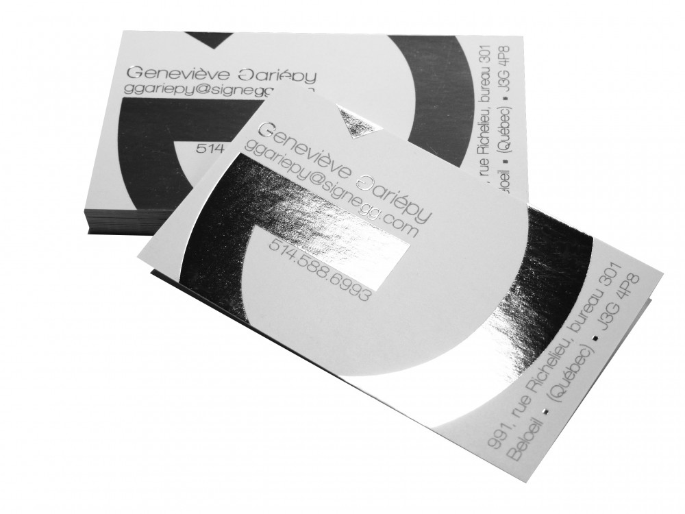 Ottawa foil business cards reheart Gallery